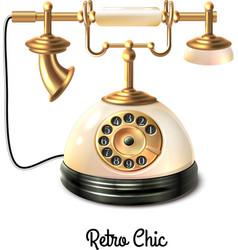 Retro style telephone vector image vector image