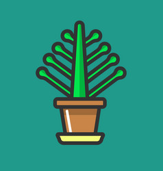 simple potted flower vector image