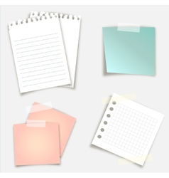 sticky notes design vector image