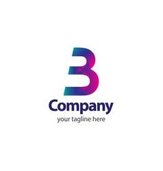 3 company logo template design vector