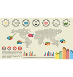 A graphical interface of the economy vector