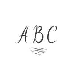 Abc latin letters alphabet swirl single line vector