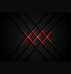abstract red light cross pattern on grey vector image