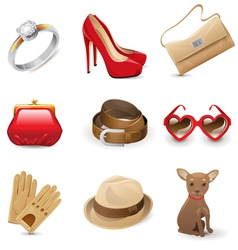 accessories set vector image