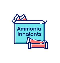 Ammonia inhalants rgb color icon vector
