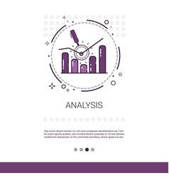 Analytics financial business analysis banner vector