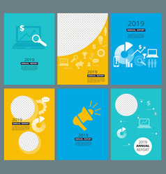 Annual reports covers business company brochure vector