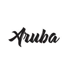 Aruba text design calligraphy typography vector