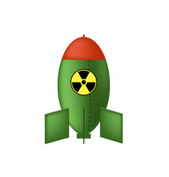 atomic bomb with radiation sign nuclear rocket vector image