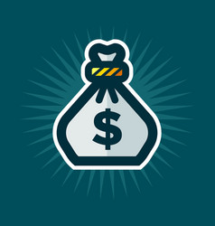 Bag of money icon vector
