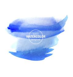beautiful blue watercolor wet paper texture vector image
