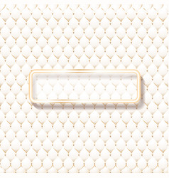 Beige leather upholstery pattern with frame for vector
