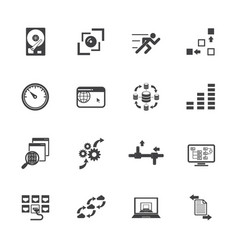 big data concept icons set vector image