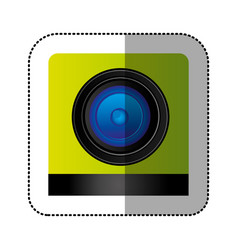 Black lents professional camera focus vector