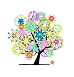 Blooming tree for your design vector