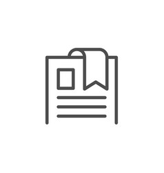 bookmark line icon vector image