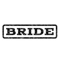 Bride watermark stamp vector