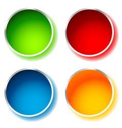 bright and glossy circle shape circle background vector image