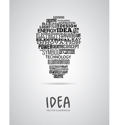 Bulb idea design over background vector