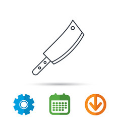 butcher knife icon kitchen chef tool sign vector image