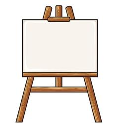 canvas on an easel vector image