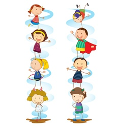 Cartoon Kids Activities vector