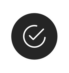 checked icon simple checked sign in modern vector image