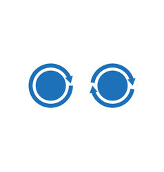 Circles infinity flat icons isolated on white vector