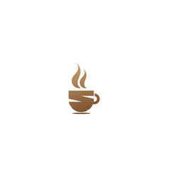 coffee cup hot drink logo vector image
