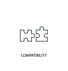 Compatibility concept line icon simple element vector