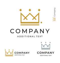 Crown logo modern identity brand icon commercial vector