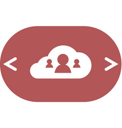 customers connected to cloud service icon vector image