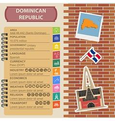 Dominican republic infographics statistical data vector