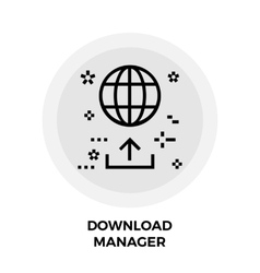 Download Manager Line Icon vector