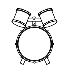 drums instrument isolated icon vector image