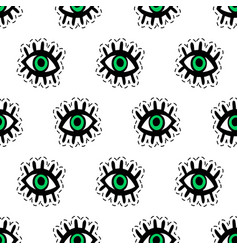 Eyes patches seamless pattern vector