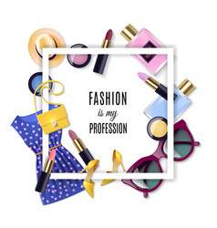 Fashion Concept Set vector image