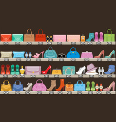 fashion store boutique accessories bags and vector image