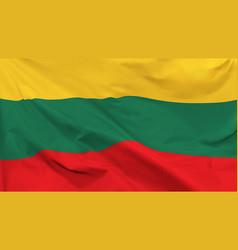 Flag republic lithuania vector