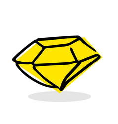 free hand drawing of a diamond vector image