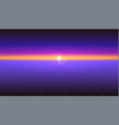 futuristic abstract background with sunlight vector image