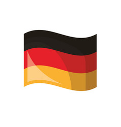 germany flag patriotism nation symbol vector image