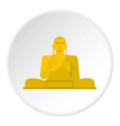 Golden buddha icon circle vector