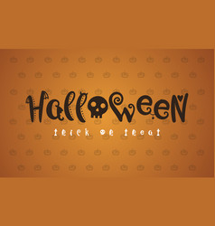 halloween background style collection vector image