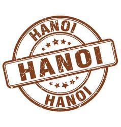 Hanoi brown grunge round vintage rubber stamp vector