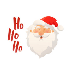 happy smiling santa claus head with red hat and vector image