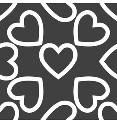 Heart web icon flat design Seamless pattern vector image