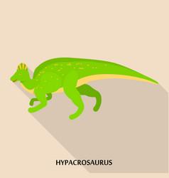 hypacrosaurus icon flat style vector image