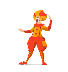 isolated cartoon circus clown with fake nose vector image