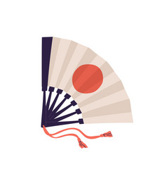 Japanese folding hand fan with symbol japan or vector